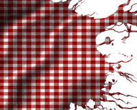 Red picnic cloth. With some folds in it Stock Photography