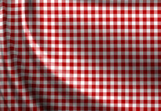 Red picnic cloth texture. Red picnic texture with soft shades Royalty Free Stock Photography