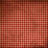 Red picnic fabric. With straight lines Stock Photography