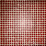 Red picnic fabric. With straight lines Stock Image