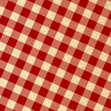 Red picnic fabric. With straight lines in it Royalty Free Stock Image
