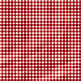 Red picnic fabric. With straight lines in it Stock Photos