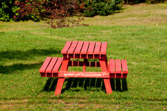 Red picnic table Royalty Free Stock Photo