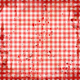 Red picnic tablecloth. Grunge illustration of red picnic tablecloth Stock Images