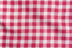 Red picnic tablecloth background. Royalty Free Stock Photos
