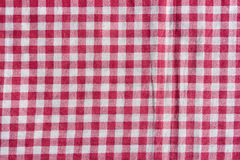 Red picnic tablecloth background. Stock Photography