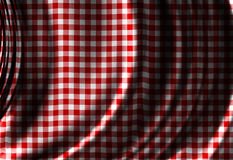 Red picnic texture. With some soft folds and shades Stock Image
