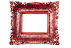 Red Picture Frame Royalty Free Stock Photo