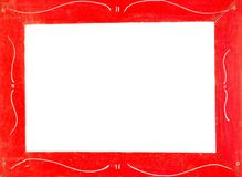 Red picture frame Stock Images