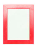 Empty Red Picture Frame Stock Photo