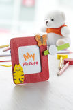 Red picture frame Stock Photography