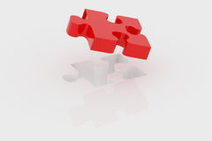 Red piece of puzzle Stock Photos