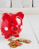 Red pig piggy bank Royalty Free Stock Photography