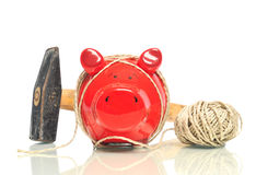 Red Piggy Bank Stock Photography