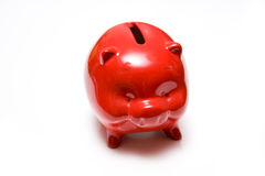 Red piggy bank Stock Photos