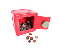 Red Piggy Bank Safe Royalty Free Stock Photo
