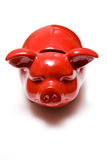 Red piggy bank on white Stock Image