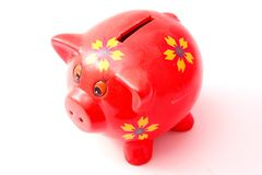 Red piggy bank Stock Photo