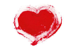 Red pigment heart Royalty Free Stock Images