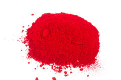 Red pigments Stock Image
