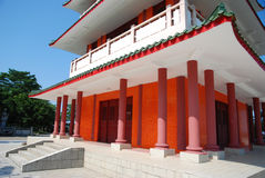 Red pillar of the pagoda Stock Photos