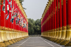 56 Red Pillars in Beijing of China Stock Images