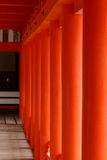 Red pillars at Itsukushima Shrine Royalty Free Stock Image