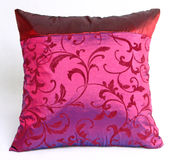 Red Pillow. A red pillow embroidered with oriental motives royalty free stock photo
