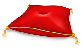 Red Pillow. Illustration of decorative pillow, isolated on the white Royalty Free Stock Image