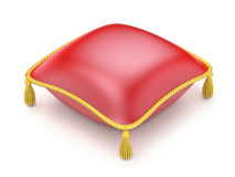 Red pillow. Over white background - 3D illustration Stock Image