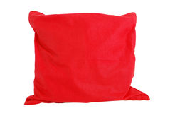 Red pillow. Isolated on white - clipping path included Stock Images