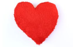 Red pillow in heart shape for love Royalty Free Stock Photo