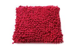 Red Pillow. Isolated Stock Images