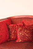 Red pillows Royalty Free Stock Photos