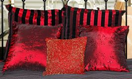 Red pillows royalty free stock photography