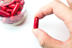 Red pills Royalty Free Stock Photography