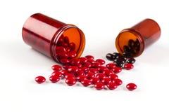 Red pills Stock Photo