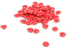 Red Pills On White Background Royalty Free Stock Photos