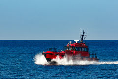 Red pilot boat Royalty Free Stock Photography