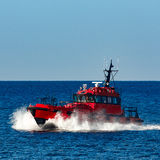 Red pilot boat Stock Photography