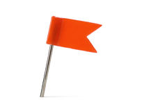 Red pin flag Stock Photos