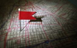 Red pin map Stock Images