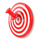 Red pin with target Stock Images