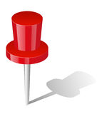 Red pin Royalty Free Stock Images