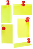 Red Pinand Notes Stock Photography