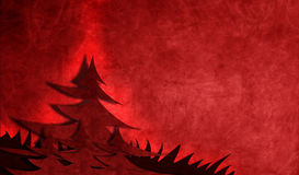 Red pine tree illustration Stock Images