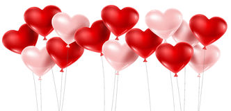 Red and pink balloons Royalty Free Stock Photography