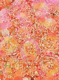 Red and pink bubbles abstract graphic artwork Stock Photo