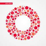 Red and pink bubbles vector pattern. Circle shape frame isolated symbol. Decorative design element Royalty Free Stock Photo