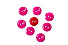 Red and pink buttons on white Royalty Free Stock Photo